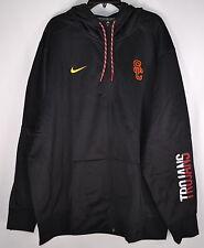 "Nike Men's USC, ""SC"" In Corner, ThermaFit Zip Up Hoodie, Black, 3XL"