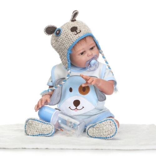 "22/"" Reborn Twin Dolls Full Body Silicone Newborn Dolls Kids Gift Toy Doll"