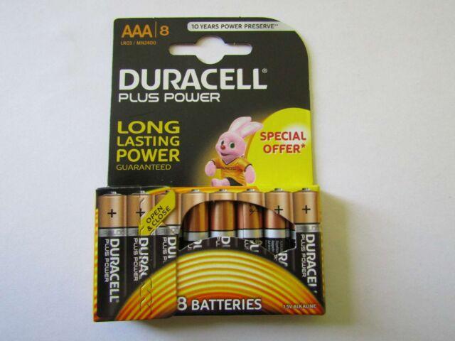 8x AAA plus Power Alkaline Battery duracell AR1234