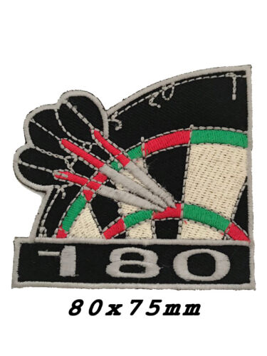 Embroidered Darts 180 Sew or Iron on Biker Patch A1186