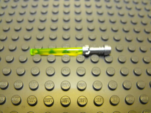 Lego Star Wars Metallic Silver Hilt With Trans Yellow Lightsaber #L3