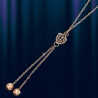 Russische Rose Rotgold 585 Halskette Collier Goldkette.14kt Gold Necklace