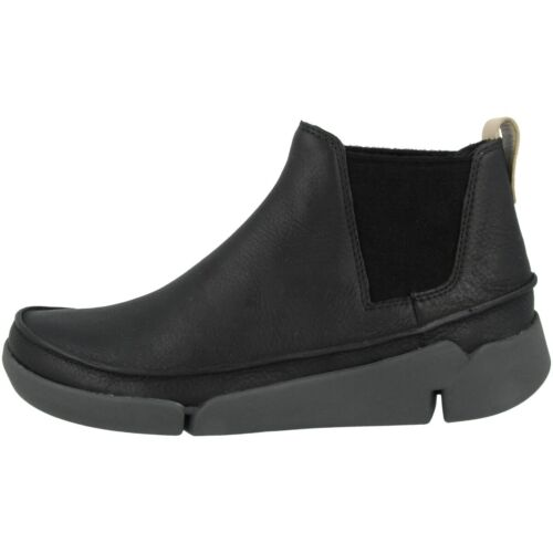 Clarks Tri Poppy Chaussures Femmes Cuir Boots Bottines Black Leather 26135336