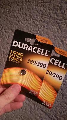 2 Stück Duracell 389/390 V389 V390 Sr1130 Sr54 1,5 V Ovp !!!
