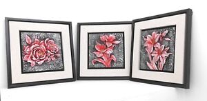3-Different-wall-frame-flowers-Resin-3-D-Home-decorative