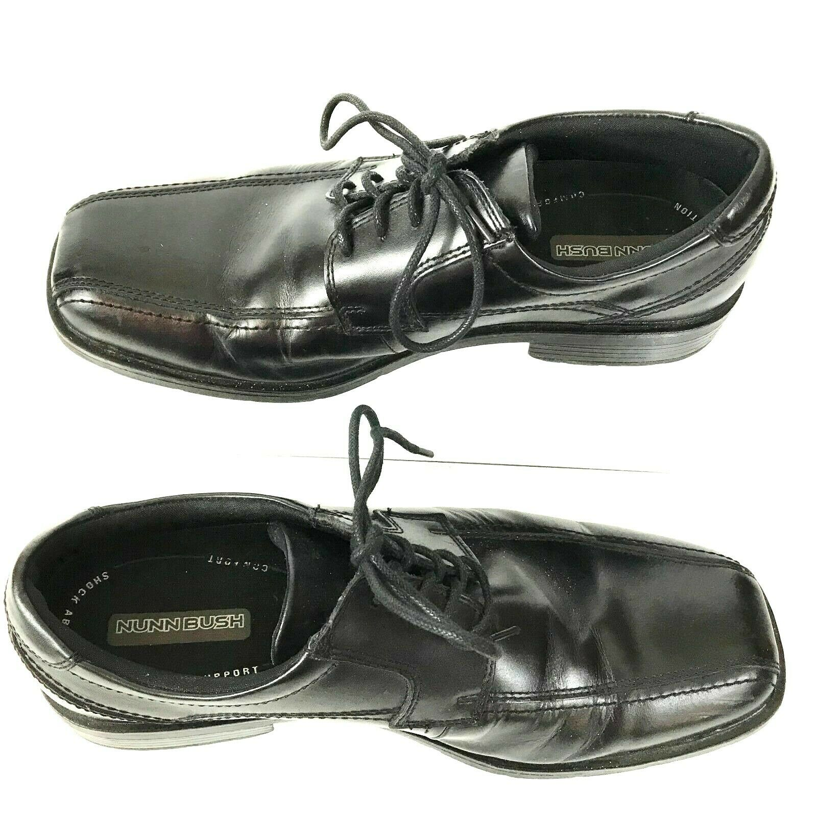 Mens Nunn Bush Leather Oxford Size 10 M Comfort Support Shock Absorption Black