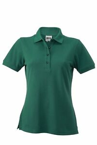 James   Nicholson Women s JN829 Workwear Polo Shirt dark-green XS  c2d438dad1