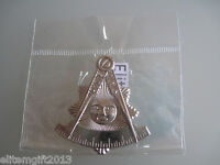 Masonic Past Master Car Auto/multipurpose 2 Emblem Silver