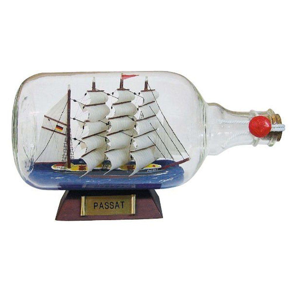 G4234  grand bateau de bouteille  passat  xxl à sur socle bois 27 cm
