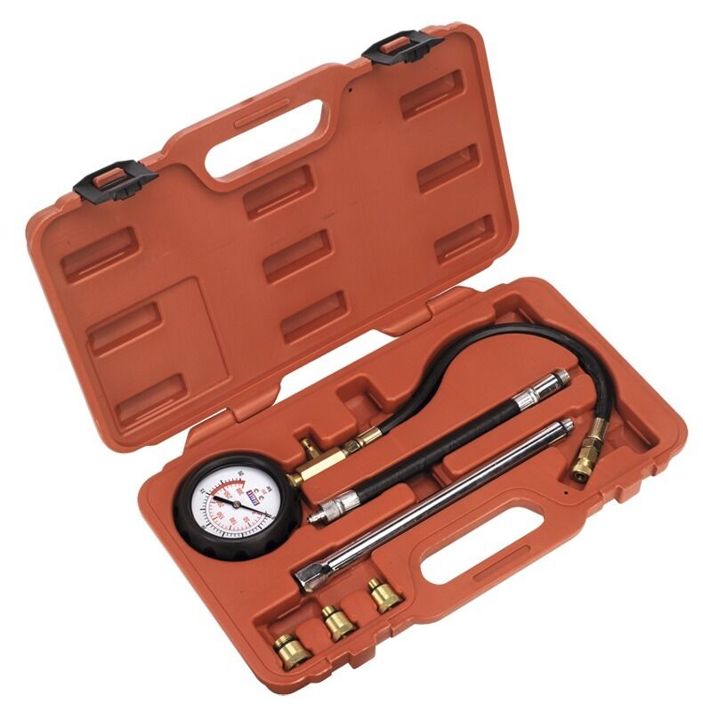 Sealey Petrol Engine Compression Tester Deluxe Kit 6pc VSE300D