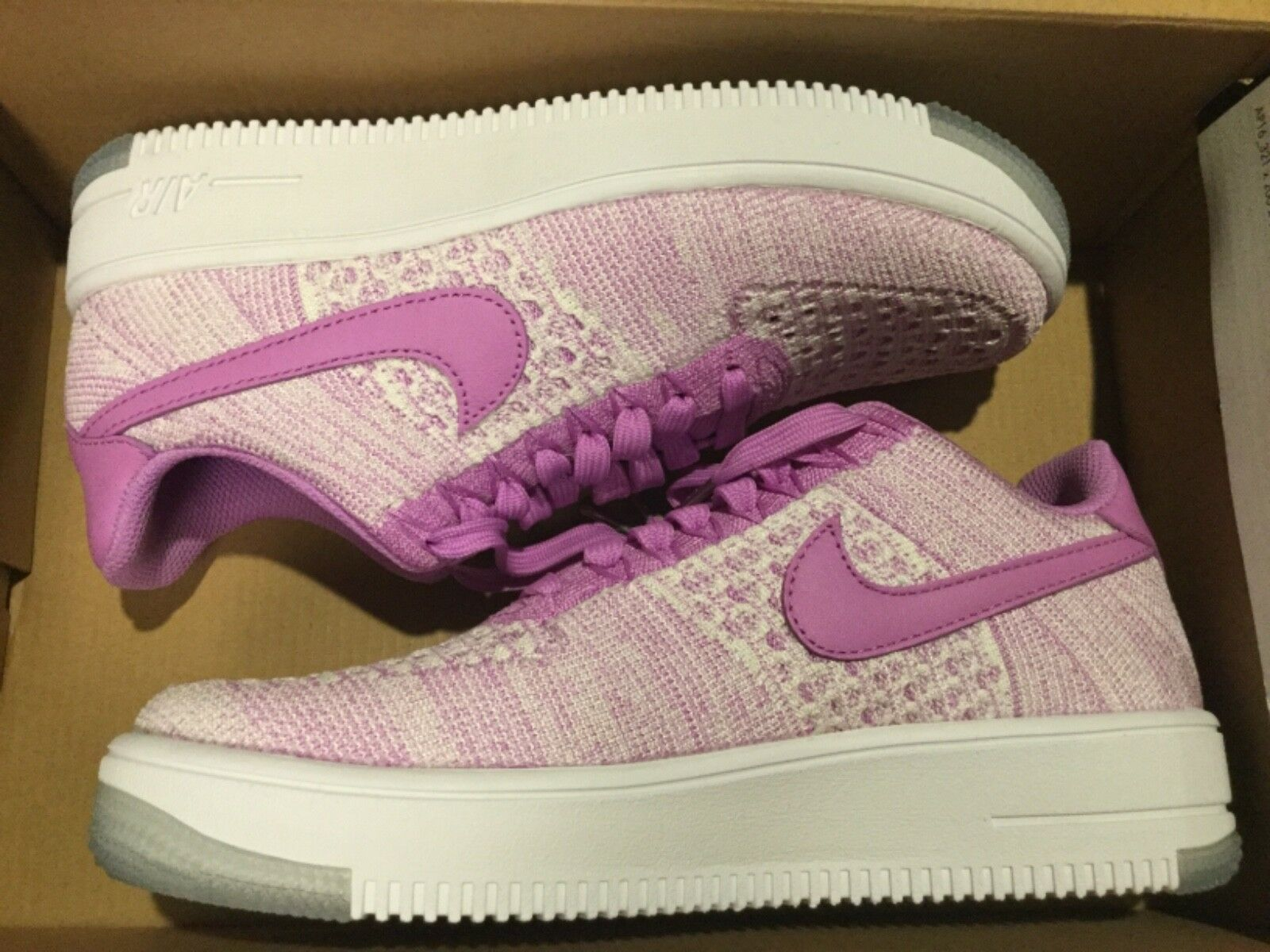 New Nike AF1 Air Air Air Force 1 Flyknit Low shoes 820256-500 Womens fuchsia glow Sz 8 7d04f2