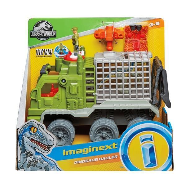 Imaginext Jurassic World Dinosaur Hauler Toy Truck With Blau The Raptor Kids Fun