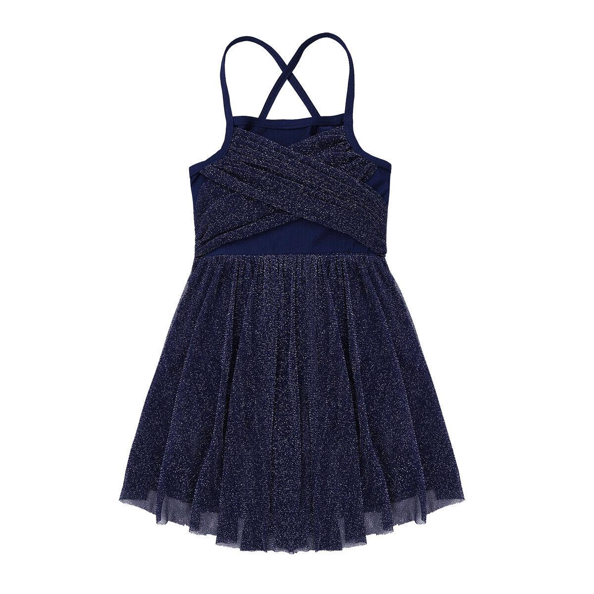 Girls Ballet Tutu Dress Camisole Skirt Child Latin Lyrical Dancewear Gym Leotard