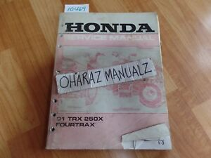 1991-HONDA-TRX250X-Fourtrax-Service-Manual-OEM