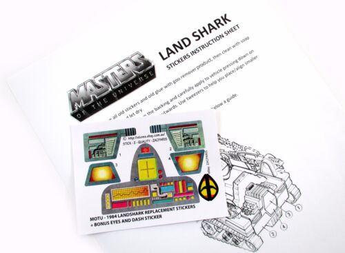 MOTU Masters of the Universe replacement stickers for LAND SHARK BIG BONUS