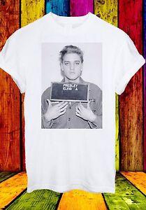 Elvis-Aaron-Presley-Formato-Vertical-Rey-del-Rock-80-039-prision-Hombres-Mujeres-Unisex-Camiseta-20