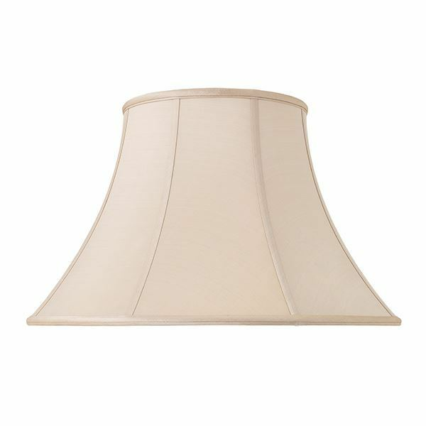 Endon Lighting Zara 16 inch Silk Tapered Oyster Lampshade