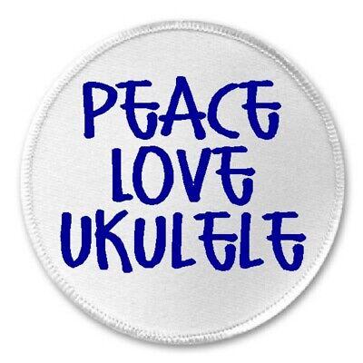"Iron On Patch Ukulele Uke Palm Tree Music Love Strummin/' Through Life 3/"" Sew"