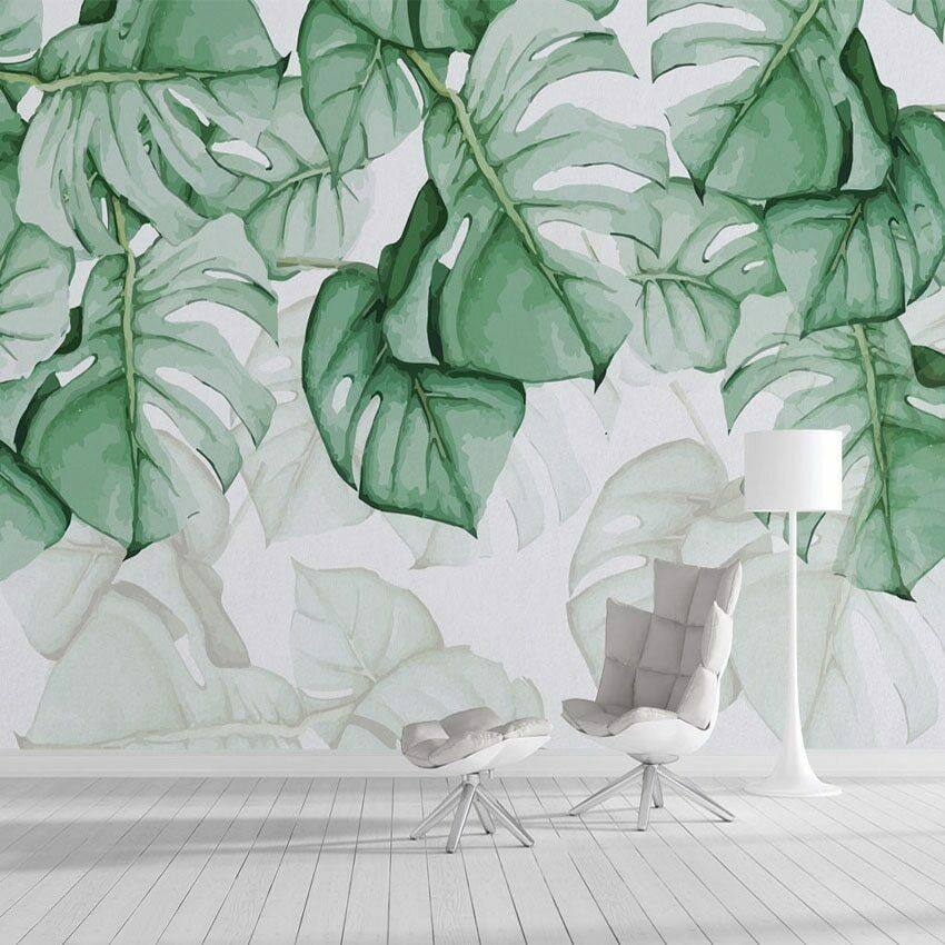 3D Tropical Plants Oil Painting Art Wall Mural Wallpaper Living Room Bedroom