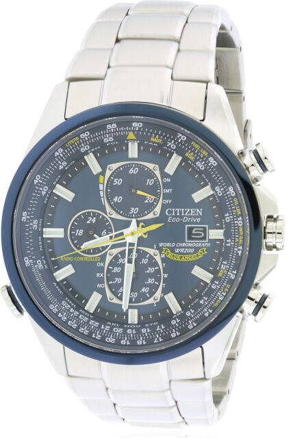 Citizen Eco-Drive Blue Angels Chronograph Atomic Mens Watch AT8020-54L