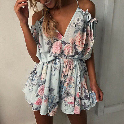Rompers womens jumpsuit 2017 NEW lady floral summer loose backless lace bodysuit