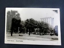 Vintage RPPC PUBLIC SQUARE PALAFAX Pensacola Florida Photo POSTCARD car auto FL
