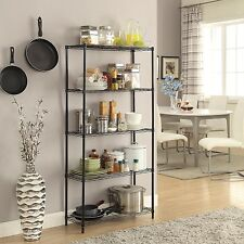 Superior Item 8 Wire Shelving 5 Tier Metal Shelf 5 Shelf Shelving Unit Storage Rack  Organizer  Wire Shelving 5 Tier Metal Shelf 5 Shelf Shelving Unit Storage  Rack ...