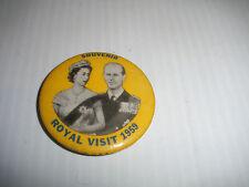 Queen Elizabeth & Prince Philip Souvenir Royal Visit 1959 Pin button