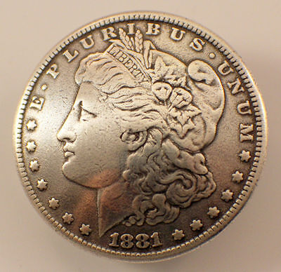 Liberty Head Screwback Concho Coin Meadllion With Screw Back