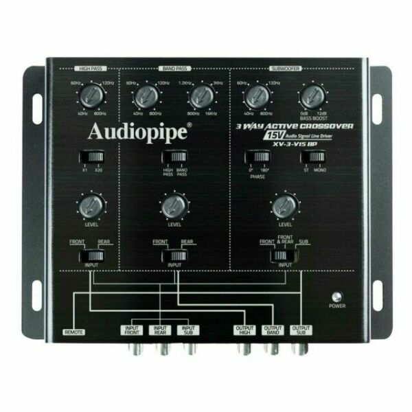 4-Way Active Crossover 15 V Audio Signal Line Driver Audiopipe XV4V15