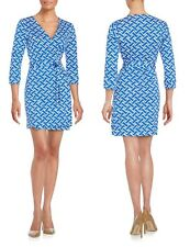 $398 DVF Diane von Furstenberg New Julian Two Mini Jersey Wrap Dress sz4 ZigZag
