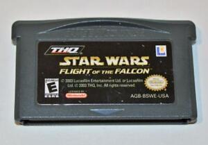 STAR WARS: FLIGHT OF THE FALCON NINTENDO GAME BOY ADVANCE SP GBA