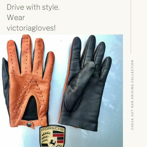 ! Brand New! Stylish Dual Color Car Leather Gloves! Brand New!-e ! Brandneu!
