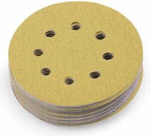 100Pcs-150-Grit-Sandpaper-Durable-Hook-amp-Loop-Sanding-Discs-Polishing-Pads-5-in