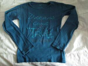 Tee-shirt-Bleu-canard-a-motif-ML-T8ans-marque-In-Extenso-en-TBE