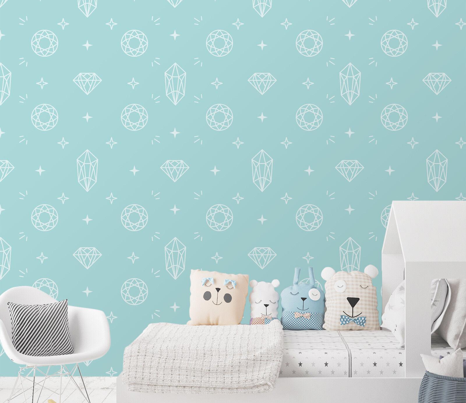 3D Niedlich Blaue Muster 21 Tapete Wandgemälde Tapete Tapeten Familie Kinde DE