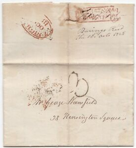 1828-RED-TO-BE-DELIVERED-BY-10-SUNDAY-MORNING-BARING-BROS-LONDON-PRINTED-CIRC