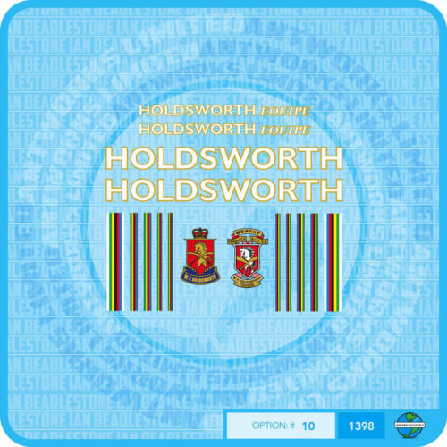 Bicycle Decals Transfers Stickers Gold Holdsworth Equipe White Set 10