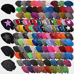 Viele Modele XXL Long Mütze Mützen Jersey Slouch Beanie Damen Herren Baumwolle
