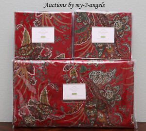 New Pottery Barn Adela Velvet Print Paisley Full Queen