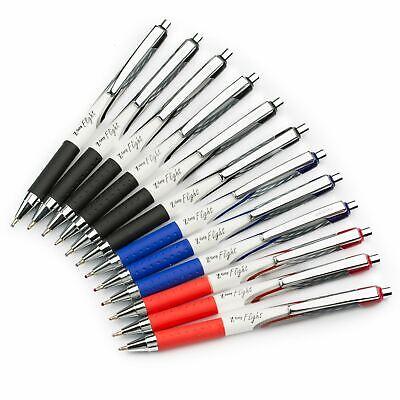 BLUE Pack of 6 Zebra Z-Grip Flight 1.2mm Retractable Ballpoint Pen