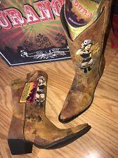 Durango Crush Brown Cowgirl Western Boots RD012 Cognac Pin Up Girl Women's 11 M