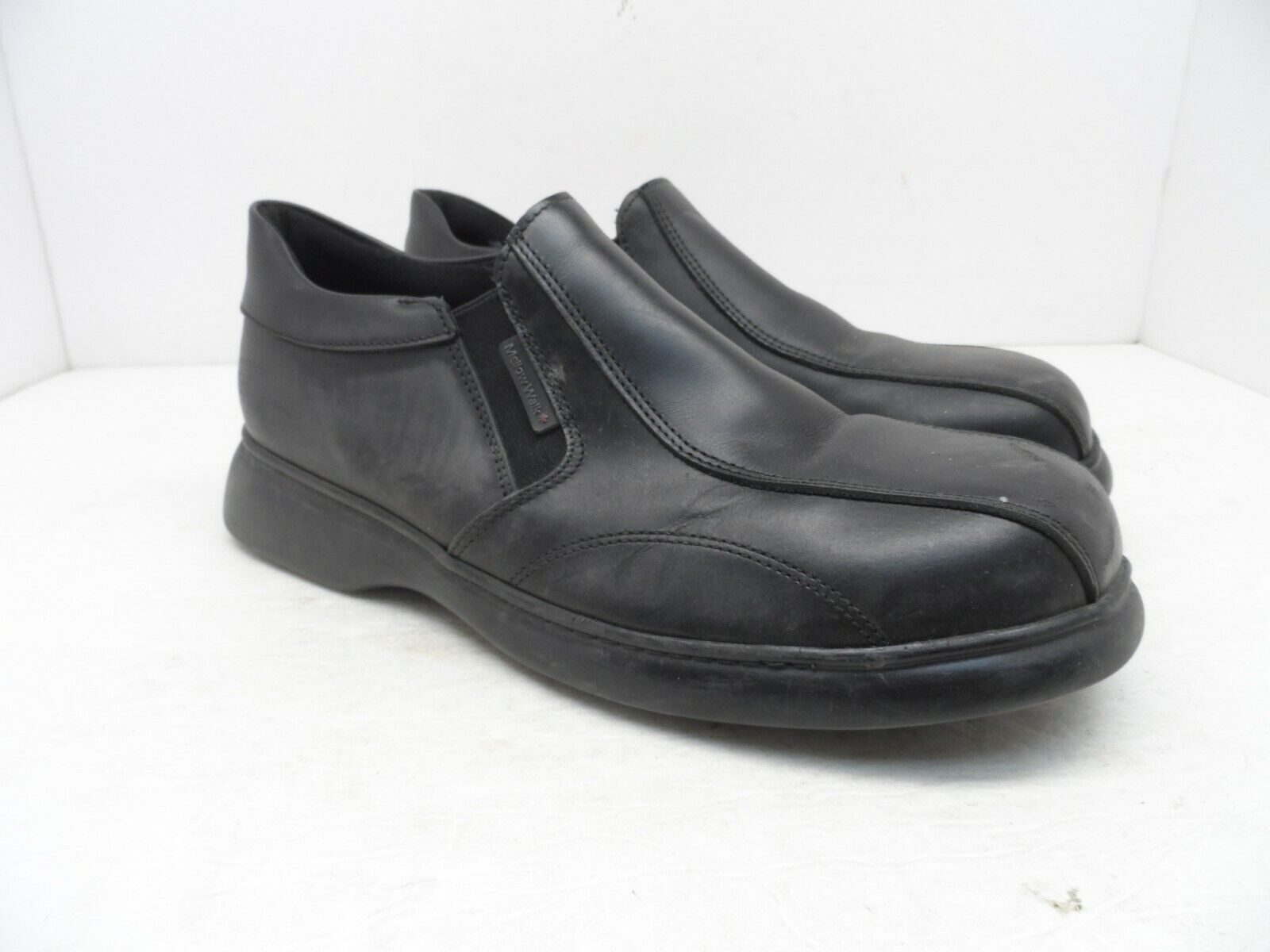Mellow Walk Men's Sole Patrick Synthetic Casual Slip On SHoe Black Size 9EE