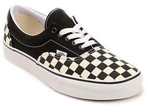 Vans-Era-Checkerboard-Black-Natural-plimsoles