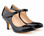 Women-Mid-Kitten-Heels-Ankle-Strap-Pumps-Faux-Leather-Sexy-Cocktail-Party-Shoes thumbnail 1