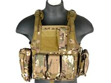 Lancer Tactical MOLLE Plate Carrier Chest Harness Vest Heavy Duty Multicam