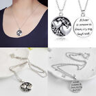 Women Silver Jewellery Two-Sided Necklace Sister Tree Pendant Best friends Gifts