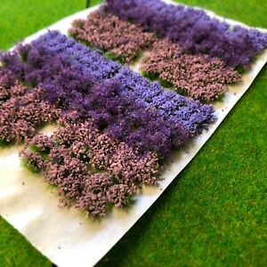 Lavender-Flowers-amp-Bushes-Mix-Static-Grass-Tuft-Model-Scenery-Railway-Forest