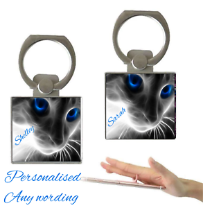 Personalised-Holographic-Cat-Name-Finger-Holder-Ring-360-Grip-Any-Mobile-Phone