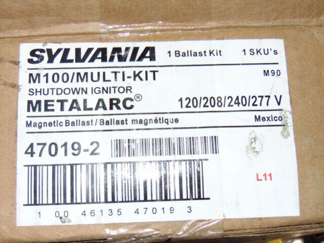 Sylvania M100 Multi Kit Shutdown Ignitor Ballast Metalarc 47019-2